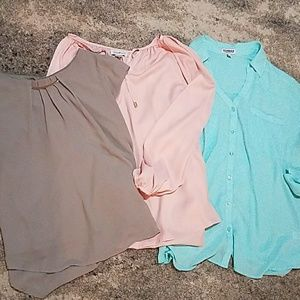 Lot of 3 blouses Express and 2 more Fit L
